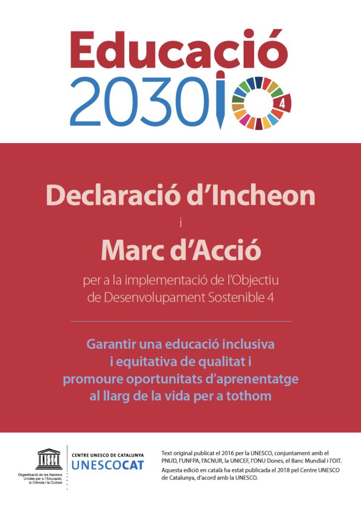 Educació 2030: Declaració d'Incheon i Marc d'Acció per a l'ODS 4